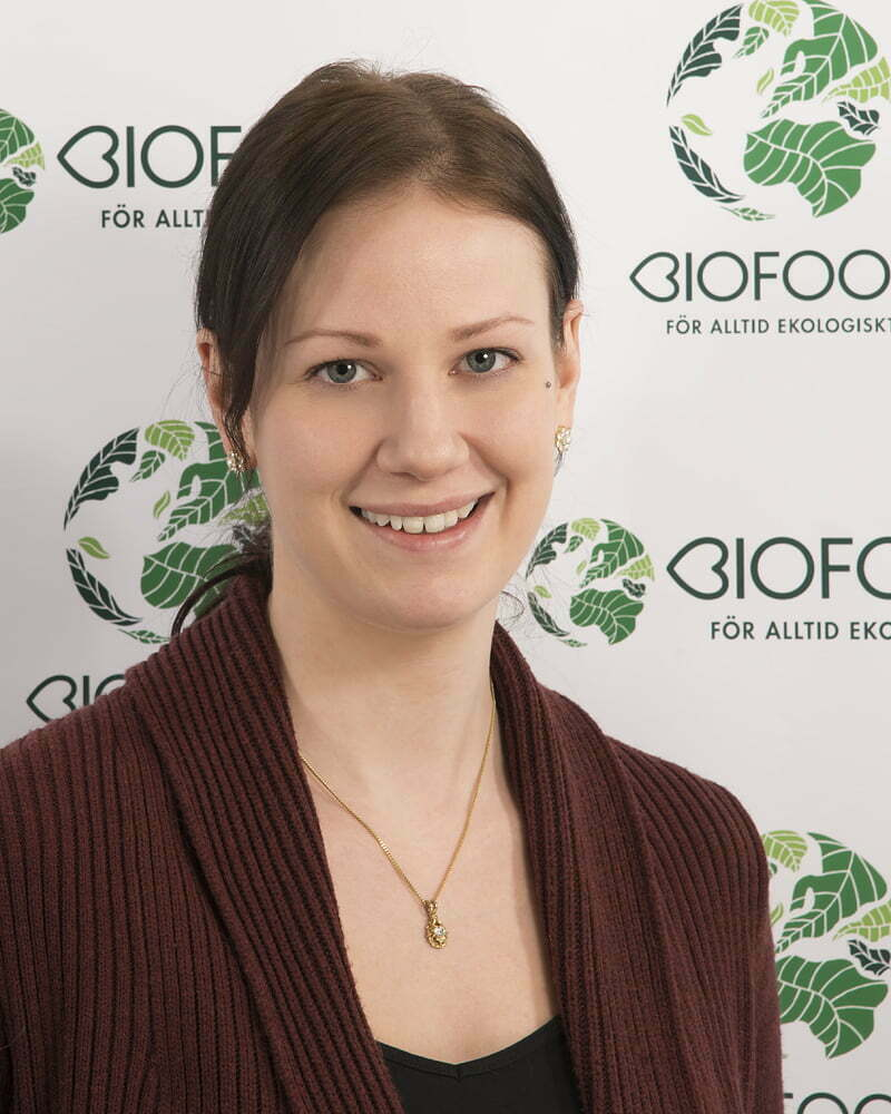 Jennie Andersson : Kvalitetssäkrings- och märkningsansvarig/Produktdataadministratör