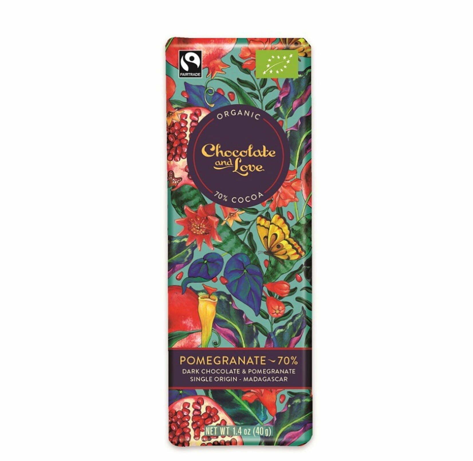 Choklad med granatäpple